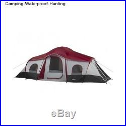 10 Person Cabin Tent 3 Room Family Camping Waterproof Outdoor Hiking Hunting
