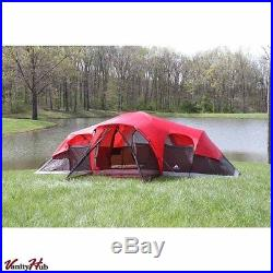 10 Person Camping Tent Enlarged 2 Removable Room Cabin Tents Dome Family Tent