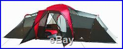 10-Person Family Camping Tent- 3 Rooms, Screened In Porch, Mud Mat, Power Port