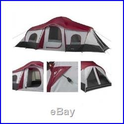 10 Person Tent 3-Room Cabin Camping Outdoor Family Shelter Vacation Hunting New