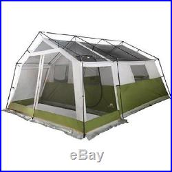 10 Person Tent Outdoor Camping Ozark Trail Family Cabin Screen Porch Green