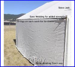 10 X 12 Canvas Wall Tent, Water & Mildew Treated