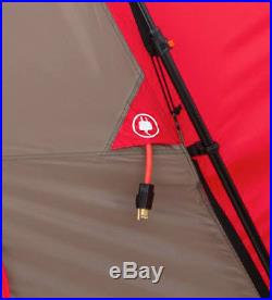 12 Person 21 x 10 Camping Family Tent with Awning Red
