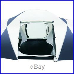 12 Person 3 Room Family Dome Camping Tent UV resistant Heavy Duty & Lightweight