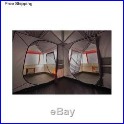 12 Person 3 Room Family Instant Cabin Tent Outdoor Camping Large Rainfly Canvas