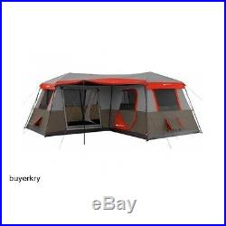 12 Person 3 Room Family Size Instant Cabin Camping Tent Hiking Summer Barbecue