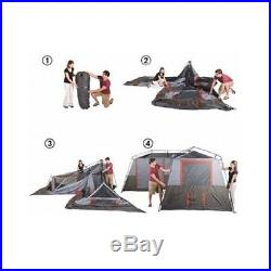 12-Person Camping Tent 3 Room Cabin Family Easy Quick Setup Outdoors Hiking New