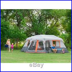 12 Person Instant Cabin Tent 3-Room 20 x 18 Camping Outdoor Family Screen Room