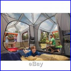 12 Person Large Camping Tent 3 Rooms Hiking Family Cabin Trail Hunting Red NEW