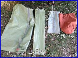 12' X 9' Blanchard Alpine Draw-tite Canvas Tent & Fly Made In USA By Eureka