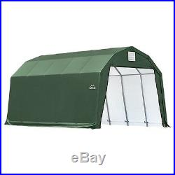 12x20x11 Barn Shelter, Green Cover New