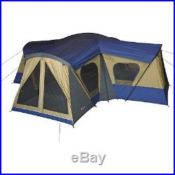 14 Person 4-Room Family Cabin Tent Camping Sleep Outdoor Travel House 4 Entrance