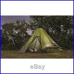 14' x 14' Teepee Tent Waterproof Coating Easy Setup Camping Outdoor, Sleeps 8