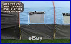 15'18 Large Camping 3 seasons tent Waterproof Canvas Fiberglass outdoor 5-8 ppl
