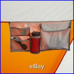 18' x 10' 3 Room Cabin Tent Camping Canopy 12 Person Shelter w Built in Lights