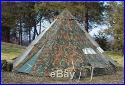 18' x 18' Camo Teepee Tent Camping Scout Family Huge Outdoor Waterproof Sleep 12