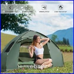 1-Person Compact Portable Pop-Up Tent/Camping Cot with Air Mattress & Sleeping Bag