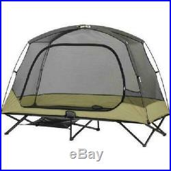 1 Person Cot Tent Double Folding Camping Sleeper Canopy Bed Shelter Raised Camp