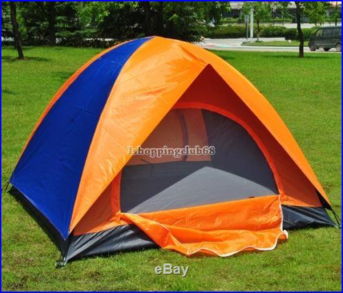 2 Person Family Outdoor Waterproof Shelter Canpoy Tent Camping US Double Layer