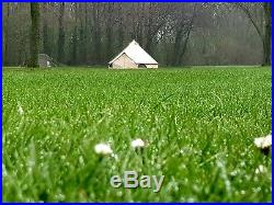 360 GSM 5m Canvas Bell Tent With Zipped In Groundsheet Large Family Tents