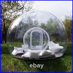 3m Inflatable Commercial Grade PVC Clear Eco Dome Camping Bubble Tent withAir Pump