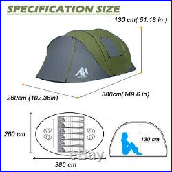 4-6 Person Outdoor Large Camping Tent Pop up Sunshade Shelter Waterproof Hiking