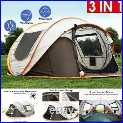 4-6 Person Ultralight Large Pop Up Automatic Camp Tent Wind Waterproof Shelter