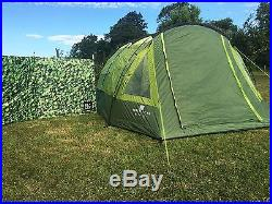 4 Berth Tent Family camping/ Festival Four Person OLPRO Abberley XL (Green)