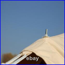 4 Season 6M Bell Tent Cotton Canvas Waterproof Safari Family Yurt 10 Person Camp