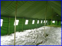 50 Person 65'x16' Military Barracks Army Tent Camping Hunting Waterproof