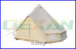 5M Canvas bell tent Cotton winter tent wall rolled up for outdoor camping