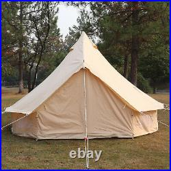 5M Double Door Large Cotton Canvas Bell Tent Glamping Yurt Camping Tent