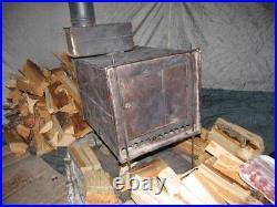 5,5lbs Folding Wood Burning Stove for Tipi Teepee Lavvu Canvas Hot Tent