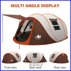 5-6 Person Large Camping Tent Instant Pop Up Outdoor Waterproof Family Hiking
