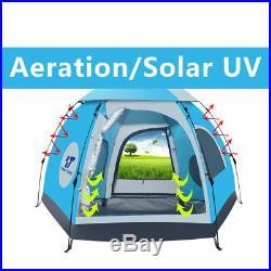 5-6 Person Waterproof Outdoor Tent 4 Season Hiking Folding Ultralight PopUp Tent