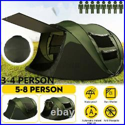 5-8 Person Automatic Family Camping Backpack Hiking Tent Waterproof Double Layer