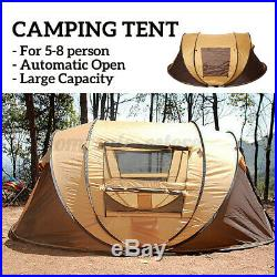 5-8 Person Ultralight Large Pop Up Automatic Camp Tent Wind Waterproof Shelter