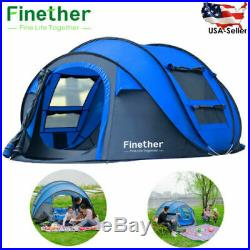 5-Person Pop Up Outdoor Family Camping Hiking Tent Beach Shelter Bag Waterproof
