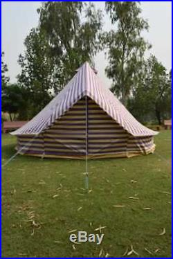 5m Canvas Bell Tent 100% cotton 400Ultimate ZIG Zipped-in-Groundsheet & carryBag