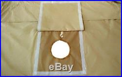 5m Waterproof Cotton Canvas Family Camping Bell Tent with Hole for Stove Pipe