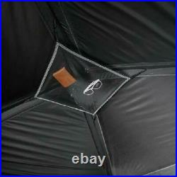 6 Person Dark Rest Cabin Tent 10 x 9 Portable Instant Shelter Outdoor Camp Gray