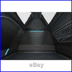 6-Person Instant Cabin Tent Dark Rest Blackout Windows Rainfly Outdoor Camping
