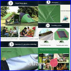 6 Person Large Family Camping Tent Waterproof Hiking Travel 2 Room Outdoor K