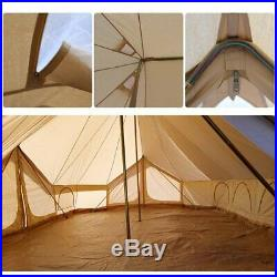 6x4M Emperor Twin Large Waterproof Cotton Canvas Camping Bell Tent 3 Door Yurts