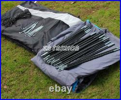 8-10 Person Family Camping Tunnel Tent Waterproof Shelter Hiking Double Layer US