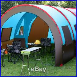 8-10 Person Waterproof Tunnel Tent Camping Outdoor Party Family Travel Hiking