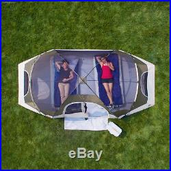 8 Person Ozark Trail Instant Cabin 2 Room Family Dome Tent Camping Outdoor Green