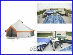 8 Person Yurt Camping Tent Waterproof Family Outdoor Hiking Shelter Heavy Duty