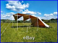 Bedouin tent with 5 awning sails and wooden poles. RRP £600