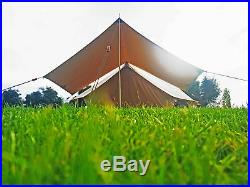 Bell Tent Canvas Canopy Awning Cover For Garden, Sun Shelter, Tents, Waterproof